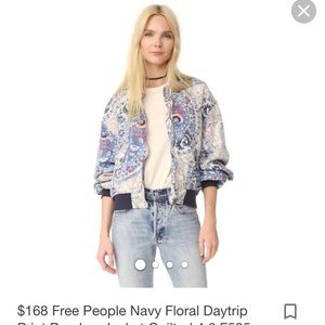 Free People Navy Daytrip Jacket Size M